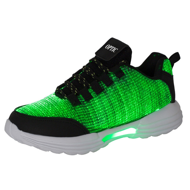 KRIATIV New Fiber Optic Luminous Sneakers for Boy&girls Led Shoes for Adult&kids Women Sneaker Children Trainers Light Up Gift 4