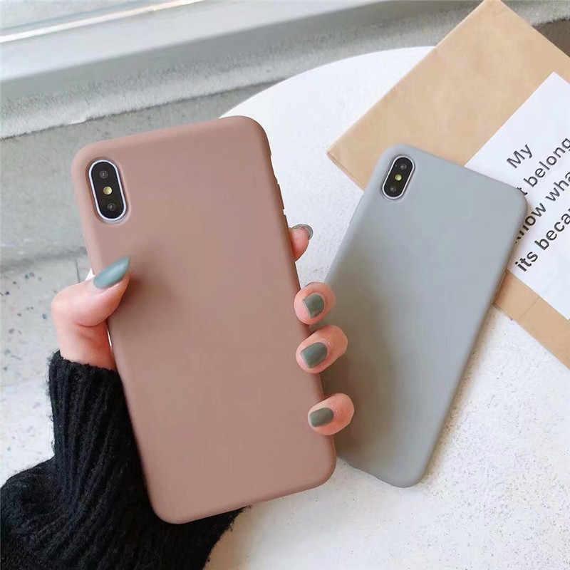 Leuke Matte Solid Candy Telefoon Case Voor Iphone 12 Pro Max 12Mini Siliconen Case Voor Iphone 11 Pro Max X Xr 7 6S 8 Plus Soft Cover