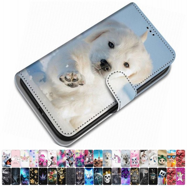 For Case Xiaomi Play Redmi 3 3S Y2 S2 Redmi Go PU Leather Phone Cover Animal Floral Tower Lovely Girl Boy Box Mountain Sky O08F