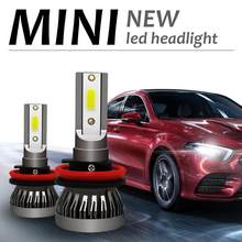 2 x h11 mini led kit de conversão farol cob lâmpada 90w 12000lm branco alta potência 6000k luz nevoeiro acessórios do carro txtb1