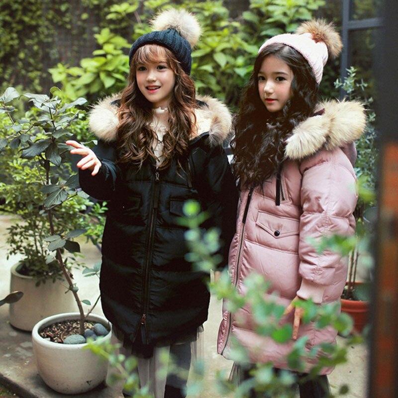 Одежда для девочек в Корейском стиле; Зимний пуховик с капюшоном для больших мальчиков; зимний детский хлопковый пуховик Mianfu на белом утино... - 4