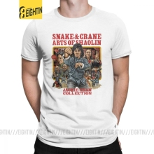 Tee Jackie Chan T-Shirt Short-Sleeve Fight-Cotton Big-Size And Crane Shaolin Movie Arts