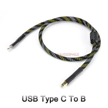Hifi USB Cable USB Type C To B Audio Data Cable For USB DAC Mobile Cell Phone Tablet Handcrafted