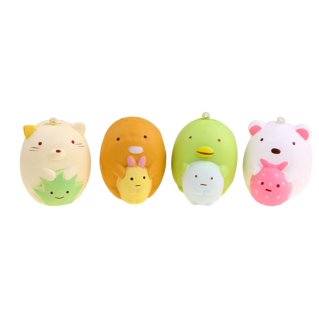 Slow Rebound Stupid Animal Decompression Toy Cute Corner Animal Scented Super Slow Rising Kids Toy Stress Reliever Toy L108