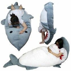 Gigante Enorme Squalo Farcito Peluche Dakimakura Che Abbraccia il Corpo Del Cuscino Sacco A Pelo Regali Peluche Nano Doll Unisex