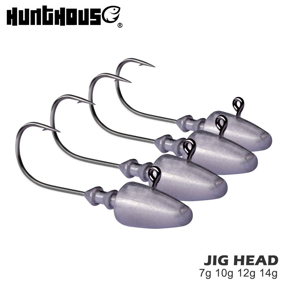 Hunthouse Fishing Jig Head Hook 7g 10g 12g 14g Fishing Lead Hook Soft Lure Shad Screw Head Jigging Head