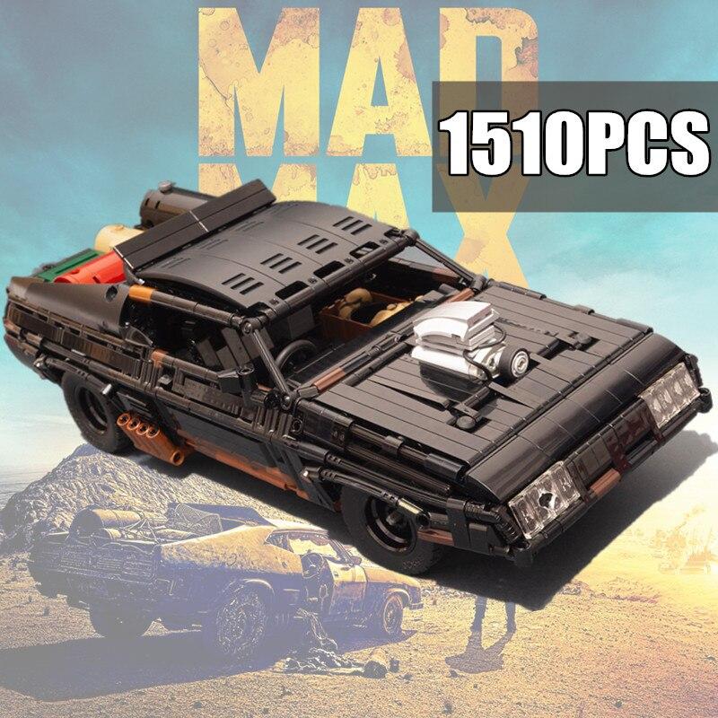 New 1510PCS Movie Mad Black Interceptor Max Muscle Car MOC-35846 Technical Star Space Building Blocks Bricks Wars Toy Kid Gift