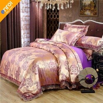 European satin jacquard 4 pieces tiansi modal 1.8-meter cotton fashionable and comfortable gift 4 pieces bedding