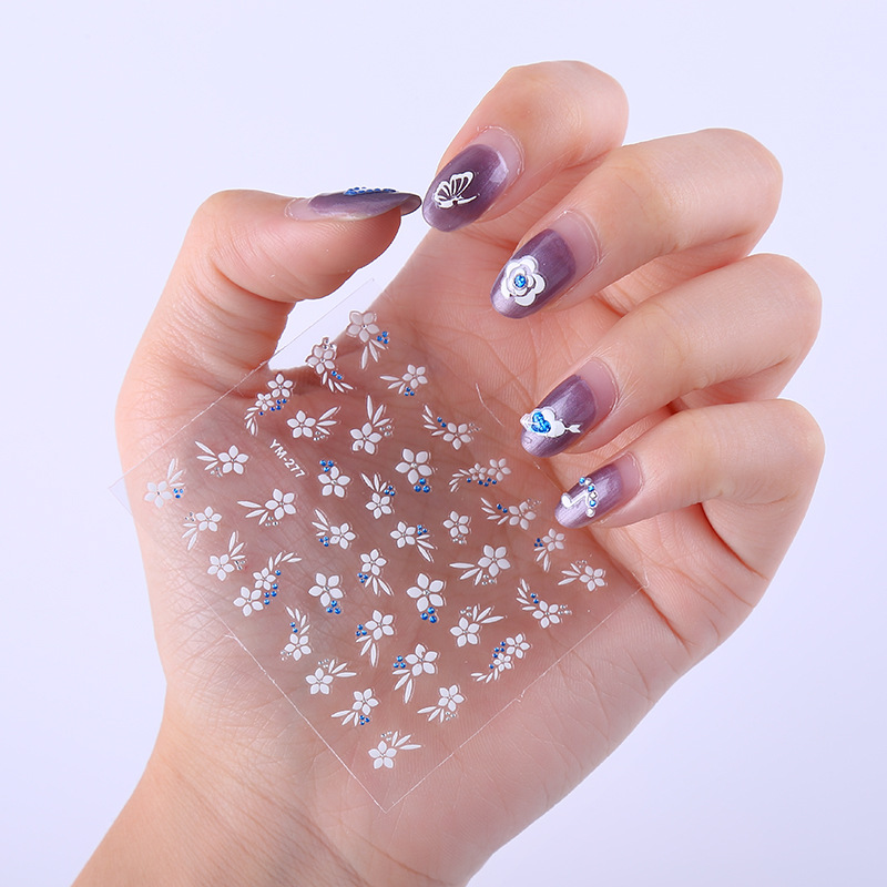 Waterproof Nail Sticker Long-lasting Nail Sticker Stick Completely Japanese Korean 3D Nail Patch Manicure Finished Product Manic