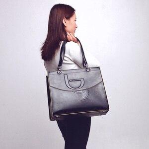 Image 4 - Bayan Casual Tote çanta çanta deri Pu sert büyük kapasiteli Saffiano çerçeve kabartma yüksek kalite 2020 yeni tasarım tavsiye