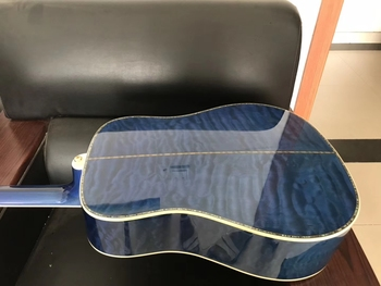 free shipping AAA grade wood dreadnought quilted maple wood solid acoustic guitar real abalone blue custom guitar free shipping new ttm quilted top devastator guitar yellow guitars maple fretboard cc deville signature super shop customized