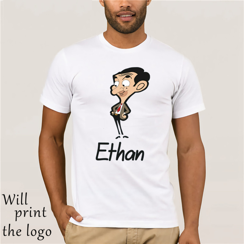 Personalised Name Mr Bean <font><b>Cartoon</b></font> Character Kids Girls Boys Unisex T-Shirt' image