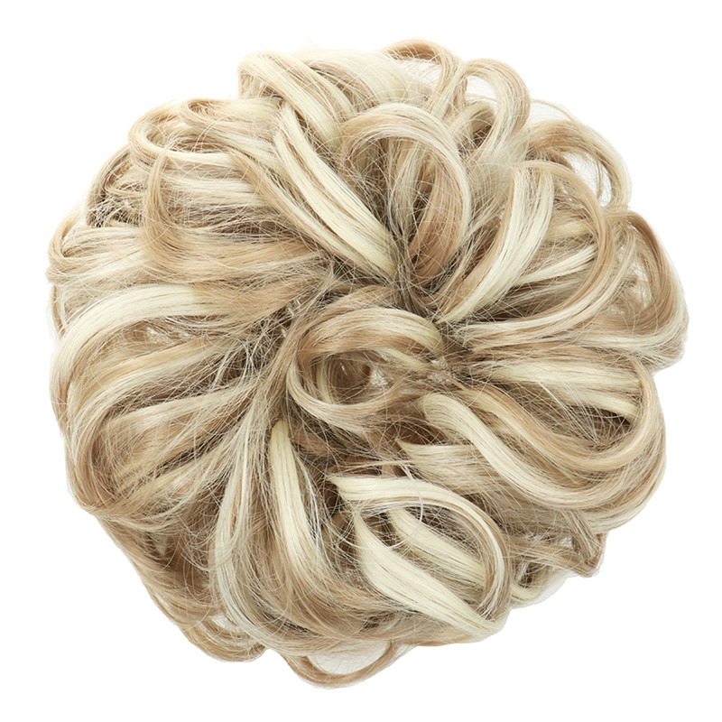 elastic hairpiece synthetic messy hair bun large size donut  chignon with elastic band hair accessories for women