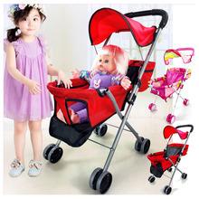 Zabawki dla niemowląt wózek dla dziewczynek udawaj zagraj w wózek spacerowy zabawki wózek spacerowy wózek dziecięcy dla lalek parasol wózek 2 ~ 4 Y tanie tanio Strolex CN (pochodzenie) 6615A Numer certyfikatu 2-3Y 4-6Y STX-193 5 kg 2~4 years China Mainland pink red rose as pictures