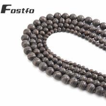 Fostfo высококачественные бусины из натурального черного дерева