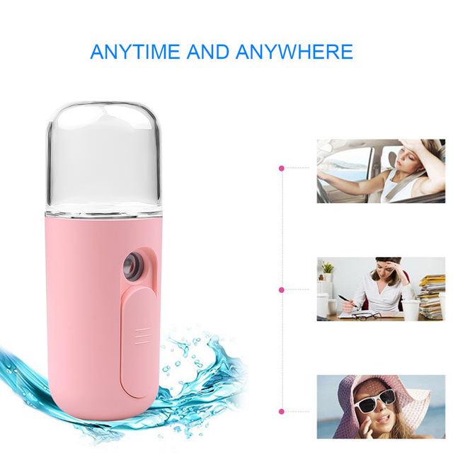 Mini Nano Facial Sprayer USB Nebulizer Facial Steam Humidifier Moisturizing Anti-aging