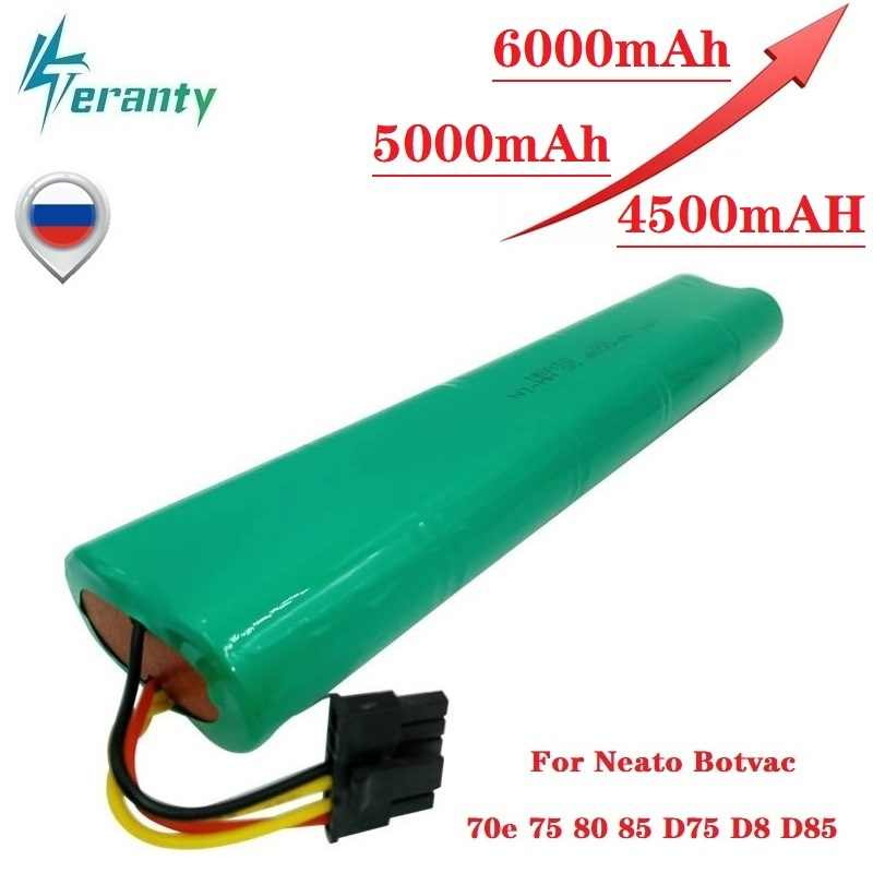 Upgrade 4500 Mah 5000 Mah 6000 Mah 12V Ni-Mh Batterij Voor Neato Botvac 70E 75 80 85 D75 D8 d85 Stofzuigers Oplaadbare Batterij