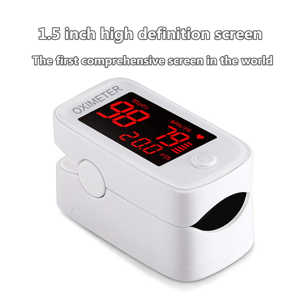White Fingertip Pulse Oximeter De Dedo Pulso Oximetro Home Family Pulse Oxymeter Pulsioximetro Finger Pulse Oximeter CE LED FDA