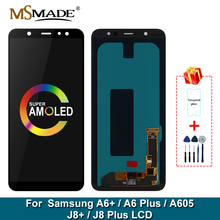Super Amoled Voor Samsung Galaxy A605 Lcd Touch Screen Digitizer Vergadering Vervanging Voor Samsung Galaxy A605F A605FN Lcd