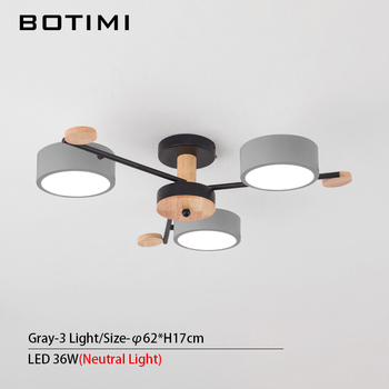 BOTIMI Indoor LED Chandelier For Master Bedroom Modern Wooden Study Room Lustres Ceiling Mounted Living Room Chandeliers 12