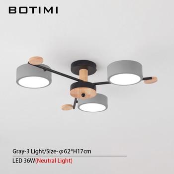 BOTIMI Indoor LED Chandelier For Master Bedroom Modern Wooden Study Room Lustres Ceiling Mounted Living Room Chandeliers 12