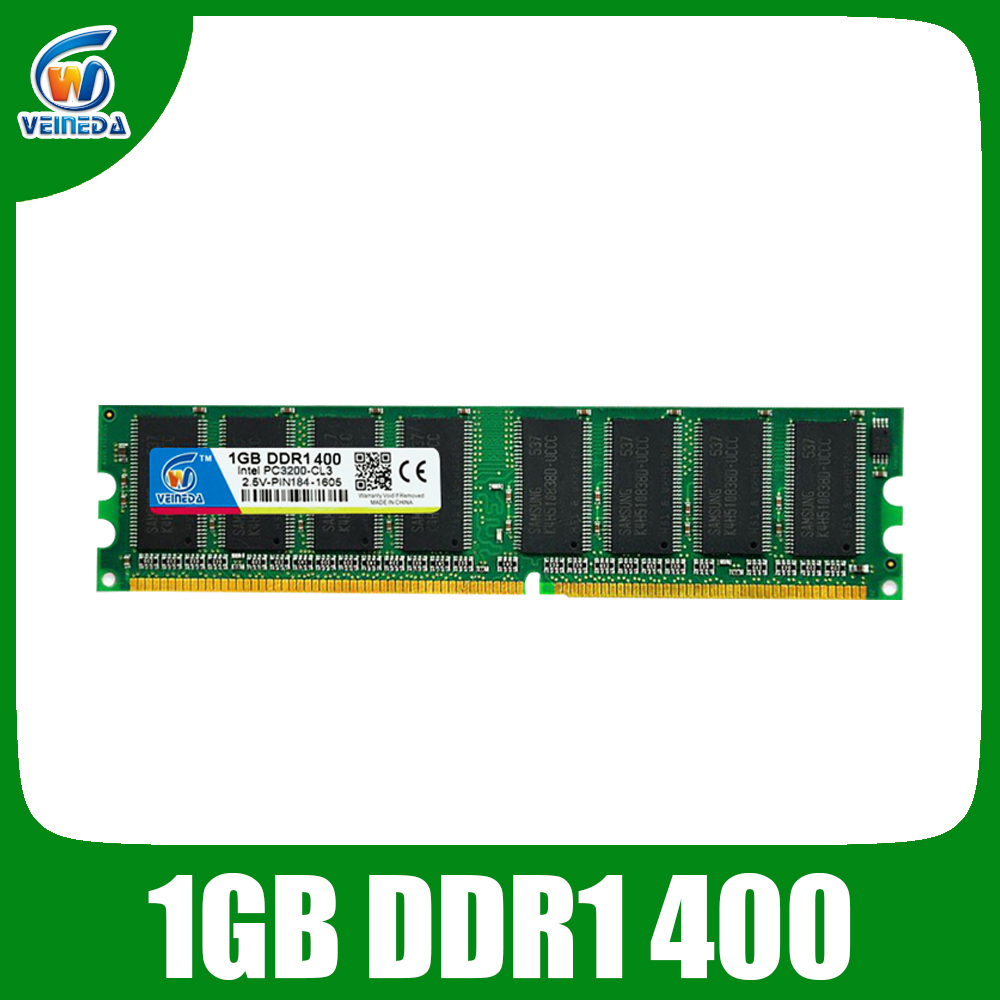 VEINEDA DDR 2GB 2x1GB <font><b>DDR400</b></font> PC3200 <font><b>1GB</b></font> Desktop Ram Memory Compatible all PC image