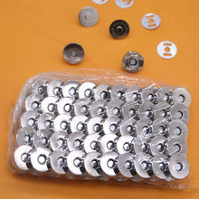 50 Stuks Brons Zilver Metalen Magneet Knop Voor Diy Zakken Snaps Knoppen Sluiting Sluiting Drukknoop Naaien Accessoires 14*3.5Mm