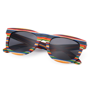 Image 3 - レトロ手作り色木製フレームサングラス偏女性男性多色サングラスビーチ抗uv眼鏡を駆動するための