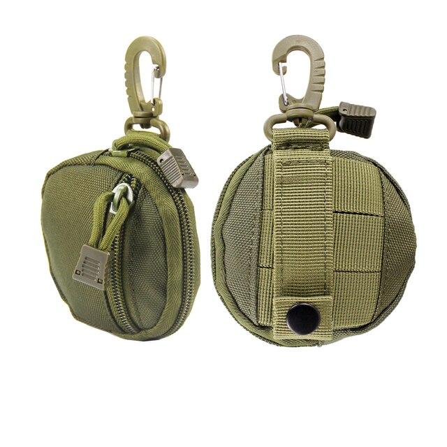porte monnaie tactique militaire pour clés, Mini porte-monnaie, poche pour pièces de monnaie de l'armée avec crochet, sac de ceinture 3