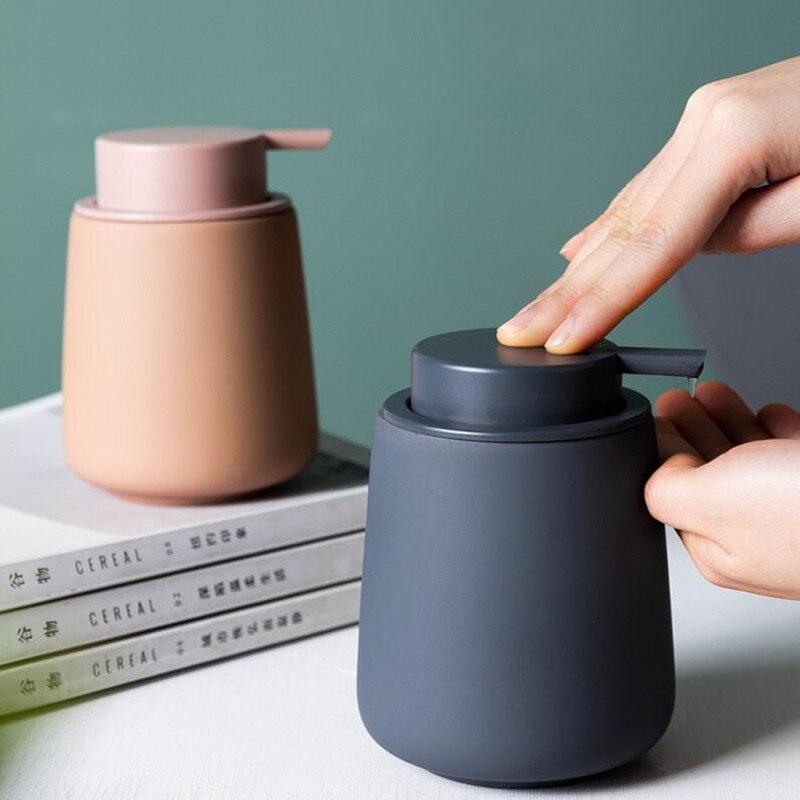 WSHYUFEI Nordic Ceramic Soap Dispenser Bottle Couple mouthwash cup Home Hotel Hand Sanitizer Lotion Bottle Travel Supplies