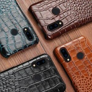 Image 5 - Skórzany futerał na telefon do Xiaomi Redmi Note 9 S 8 7 6 5 K30 Mi 9 se 9T 10 Lite A3 Mix 2s Max 3 Poco F1 X2 X3 F2 Pro krokodyl