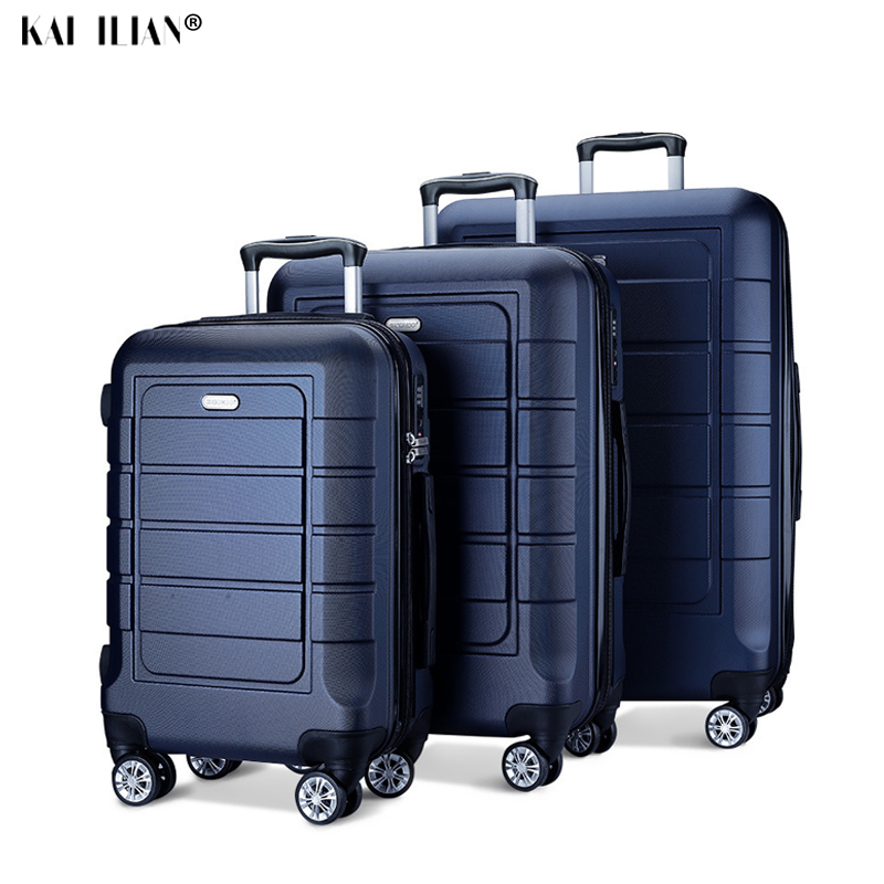 New 20''24/28 Inch Luggage Set Travel Suitcase On Wheels Trolley Luggage Cabin Suitcase Carry On Hardside Luggage Fashion Bag