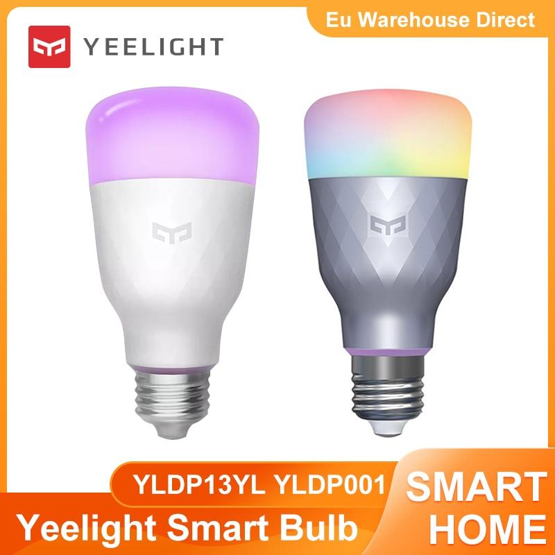 Умсветодиодный Светодиодная лампа Yeelight YLDP13YL YLDP001 1S 1SE, цветная лампа 800/650 люмен E27 для стола, напольного стола, прожектора, фонаря