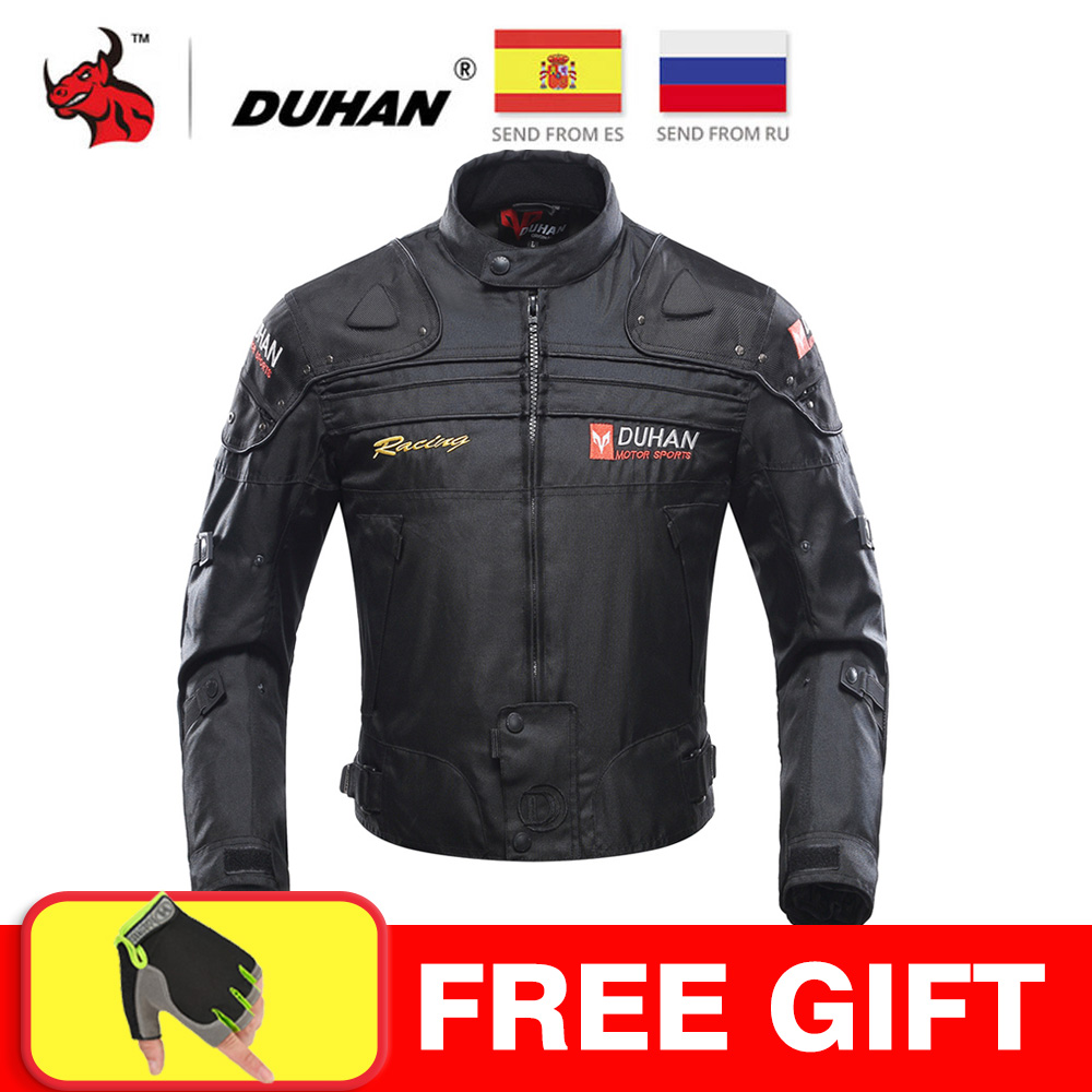 DUHAN Moto Clothing Riding-Jacket Armor Protective-Gear Windproof Winter Autumn Full-Body title=