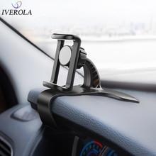 Univerola Car Phone Holder Universal HUD GPS Dashboard Flexible Clip Stand Bracket For iPhone / Xiaomi Smartphones