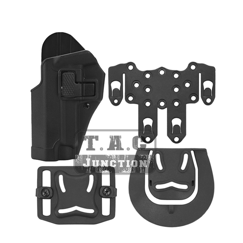 Tactical CQC Serpa Pistol Holster Quick Left Hand Paddle Belt Loop Pistol Pouch w/ STRIKE MOLLE Platform For Sig Sauer P226 P229|Holsters| |  - title=