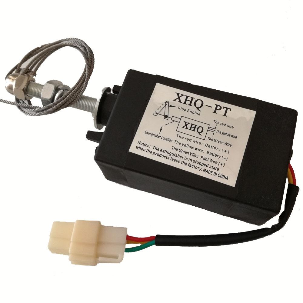 Extincteur électromagnétique de électrovanne de moteur d'arrêt de 12 V/24VDC 150N NO NC pour commander des groupes électrogènes de moteur Diesel XHQ-PT