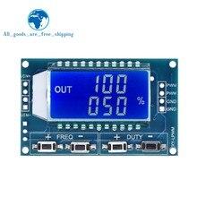 Generador de señal TZT 1Hz-150Khz Módulo de placa PWM módulo ajustable de ciclo de trabajo de frecuencia de pulso pantalla LCD 3,3 V-30V 1Hz-150Khz