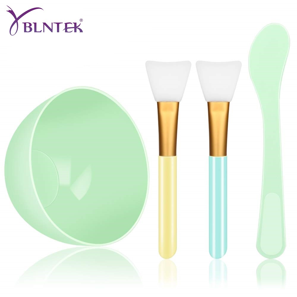 YBLNTEK Face Mask Mixing Bowl Set 4 In 1 DIY Face Mask Mixing Tool Kit Facial Mask Bowl Stick Spatula Silicone Face Mask Brush