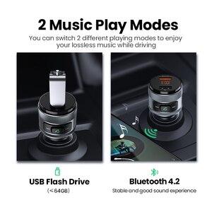 Image 3 - Автомобильное зарядное устройство Ugreen, USB, FM передатчик QC 3,0, быстрая зарядка в автомобиле, зарядное устройство QC3.0, зарядное устройство для Xiaomi, Samsung, iPhone, быстрая зарядка 3,0