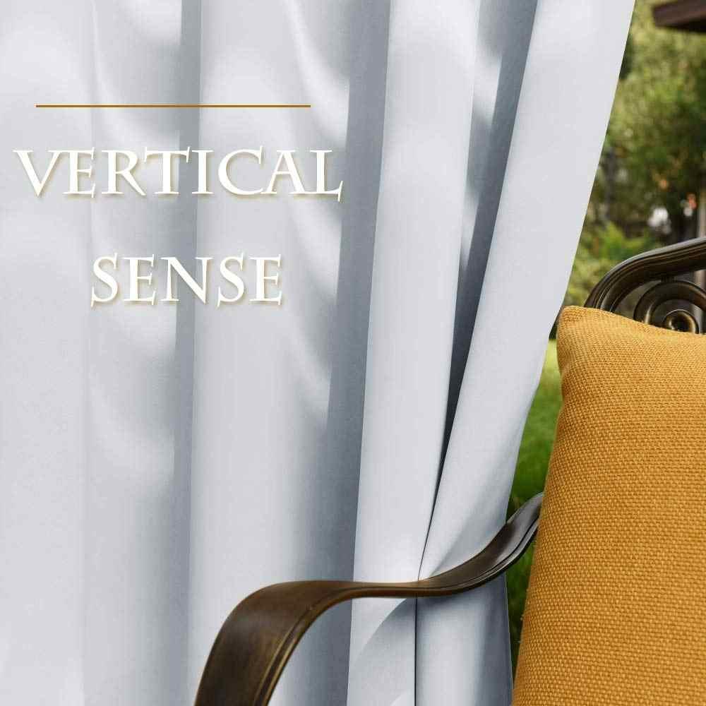 pergola impermeable pour l exterieur panneau de rideau occultant draperies avec œillets top anneaux antirouille hydrofuge pour jardin patio
