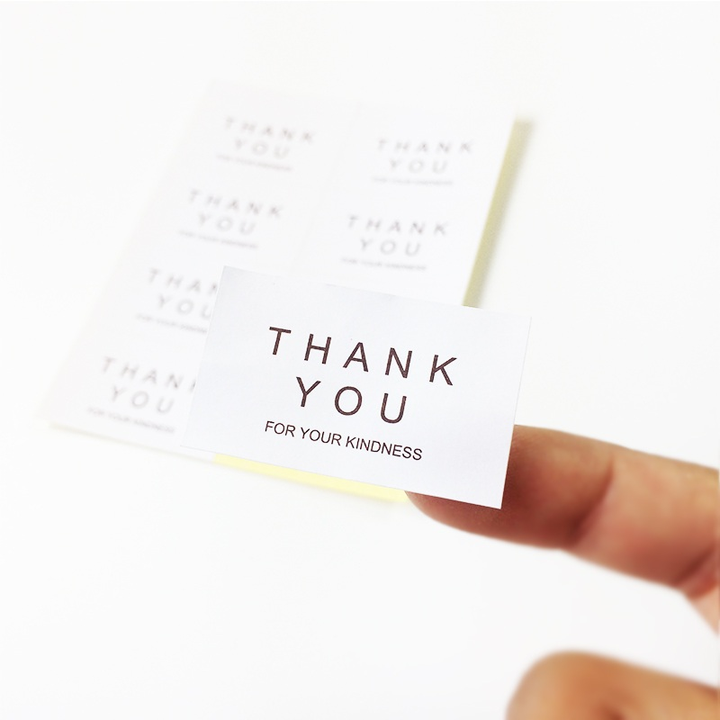 80pcs/lot 'THANK YOU FOR YOUR KINDNESS' Pattern Paper Seal Sticke Handmade Cake Gift Labels Stickers Kitchen