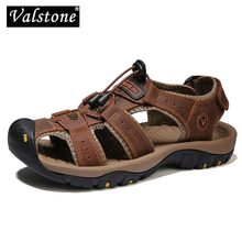 Men Sandals Flats-Shoes Elastic-Band Non-Slip Outdoor Casual-Quality Valstone for Mans