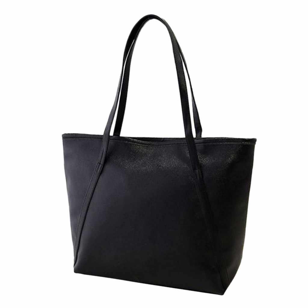 Lederen luxe handtassen vrouwen tassen Lady Grote Tote Bag Vrouwelijke Pu Effen Kleur Schoudertas Vrouwen messenger bag bolsa feminina