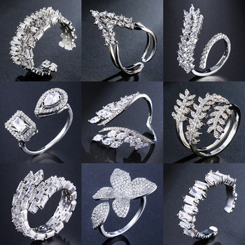 2021 New Arrival Luxury Fashion Solid 925 Sterling Silver Adjustable Ring For Women Girl Valentine's Day Gift Lady Jewelry Z3 1