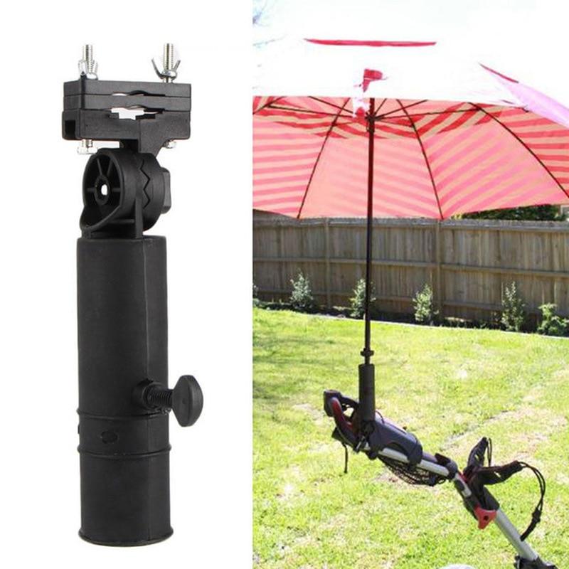Universal Adjustable Black Golf Cart Umbrella Holder Stand For Buggy Cart Baby Stroller Pram Wheelchair Trolley Accessories