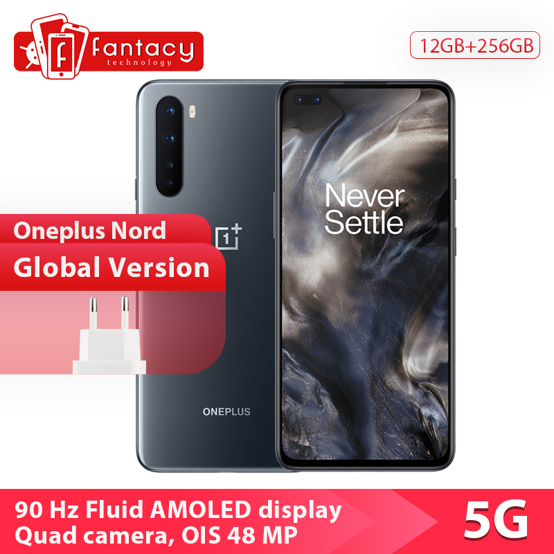 2020 New Arrival Oneplus Nord 5G Mobile Phone Snapdragon 765G 128GB / 256GB 48MP Quad Camera 90Hz AMOLED Display Fast Charge