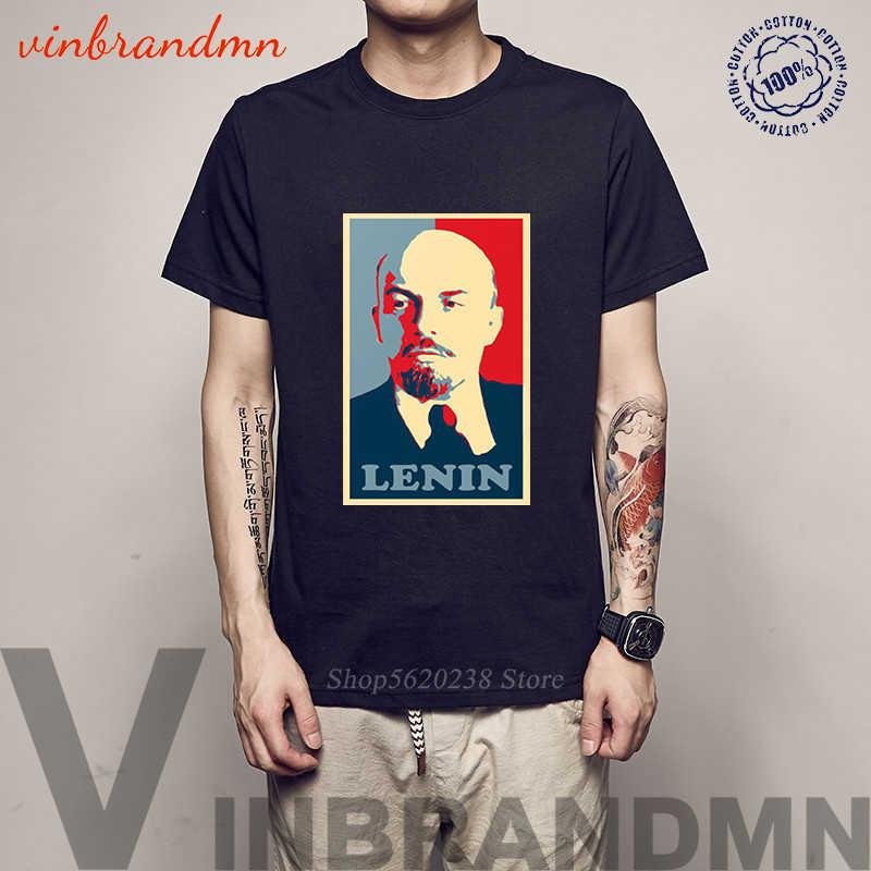 2020 Musim Panas Hot Sale Pria T-shirt Pro Kitty Soviet Pemimpin Lenin Grafis Kaos Katun Leisure Vintage Tshirts Pria Tee atasan