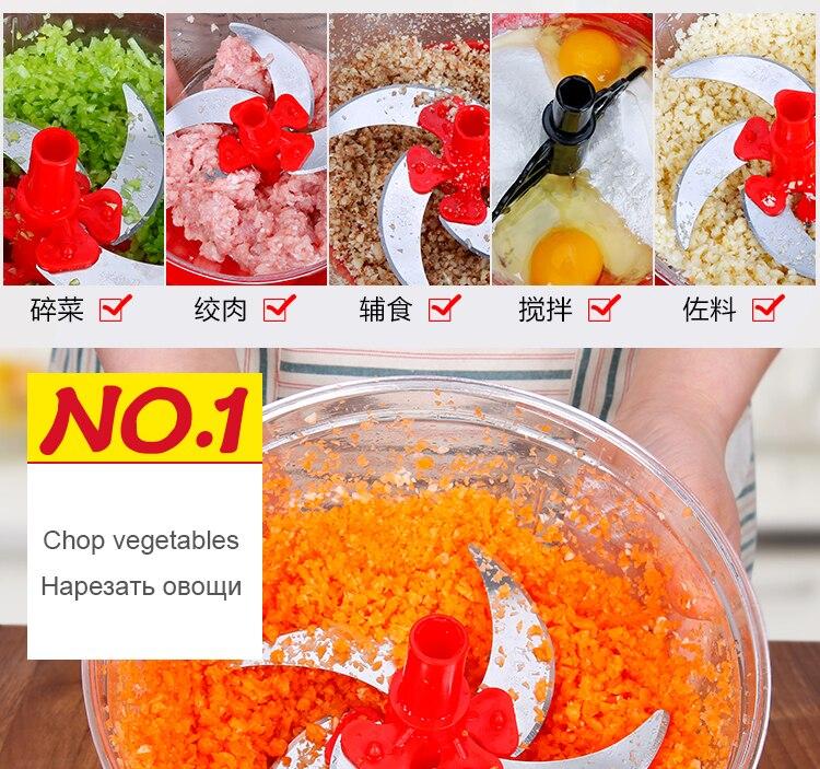 Manual da cozinha moedor de carne chopper
