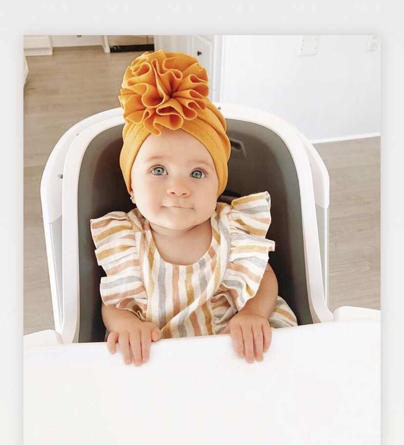 بلوم زهرة الطفل قبعة الاطفال مطاطا الطفل عمامة القبعات للفتيات رصاصة النسيج حك عقال الرضع قبعة قبعة